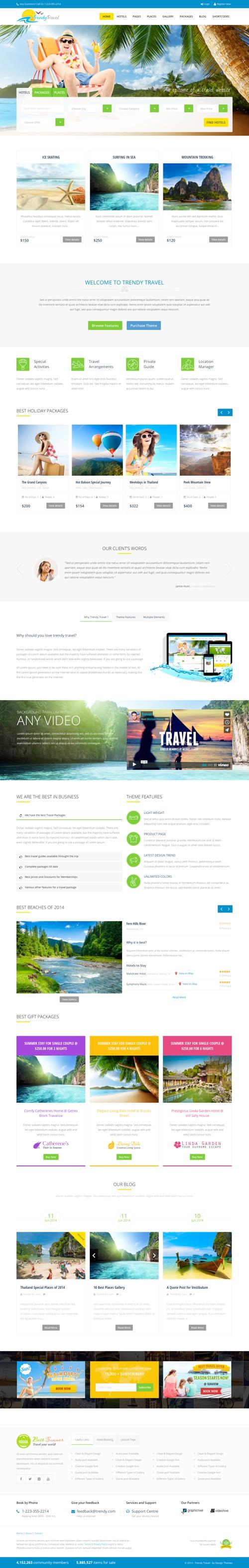 voyage travel agency wordpress theme free download