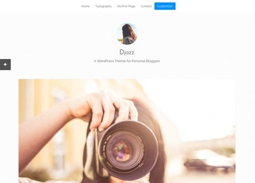 Djazz: WordPress Blogging Theme