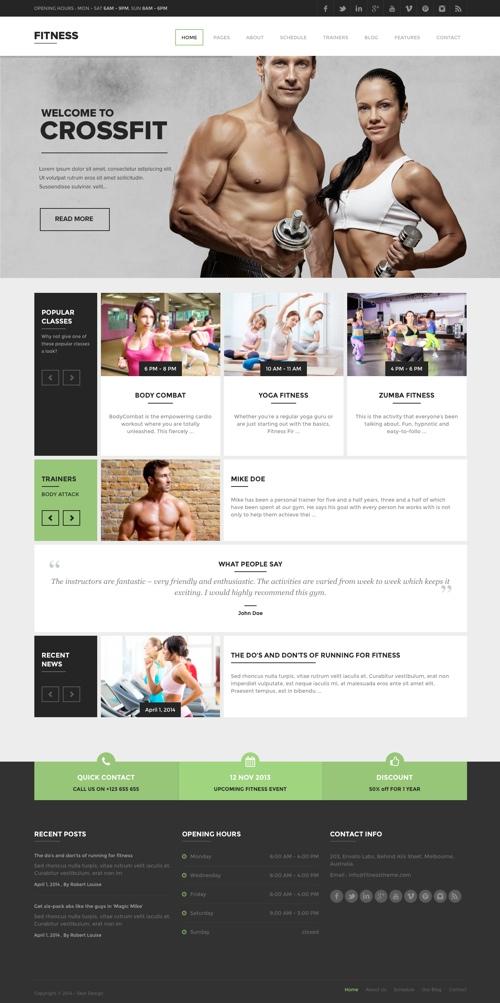 fitness-theme