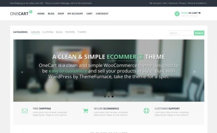 OneCart: WooCommerce WordPress Theme