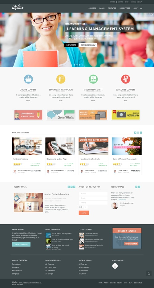 9+ Learning Management System (LMS) WordPress Themes 2019