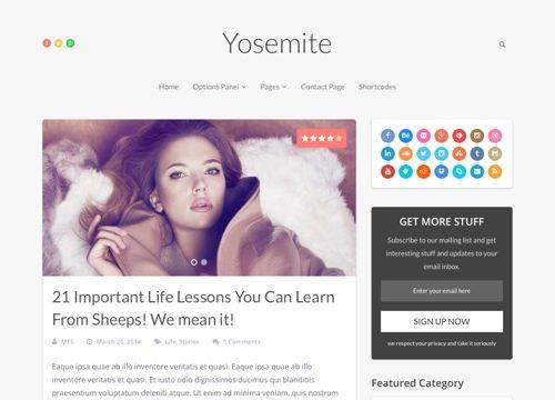 Yosemite WordPress Theme