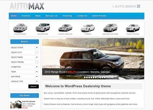 AutoMax: Automotive WordPress Theme