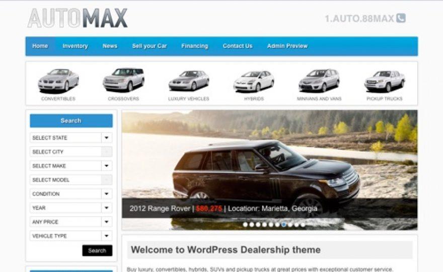AutoMax: Automotive WordPress Theme