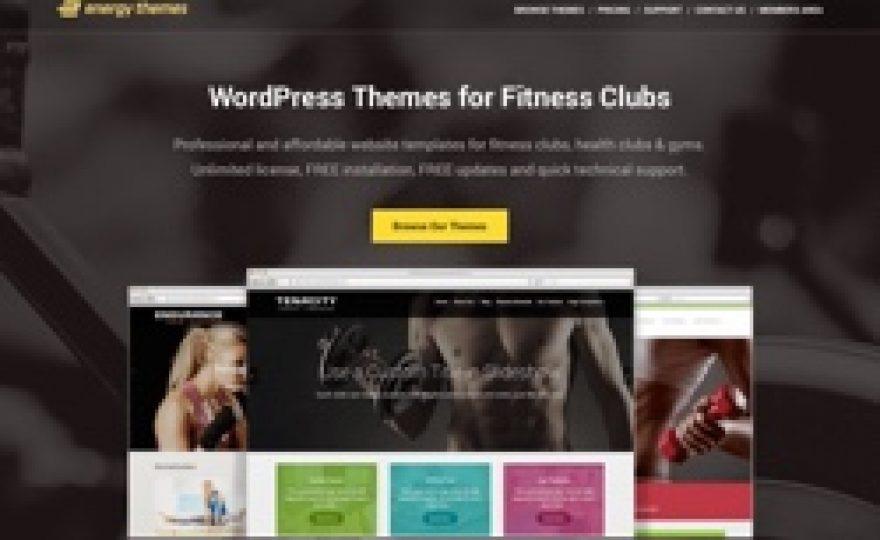 EnergyThemes.com: A New Shop for Fitness & Gym WordPress Themes