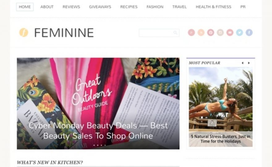 Feminine WordPress Theme