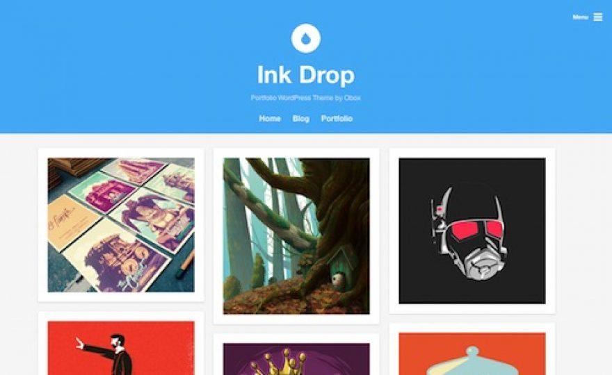 Ink Drop: Portfolio WordPress Theme