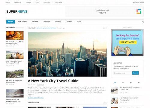 Super News WordPress Theme