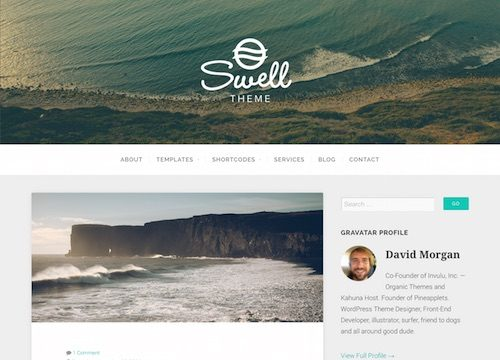 Swell Blog WordPress Theme