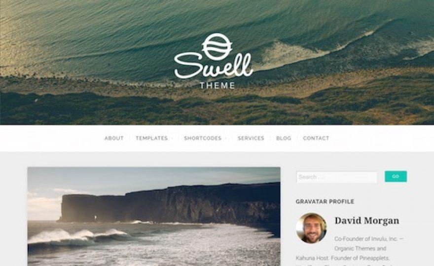 Swell Blog WordPress Theme