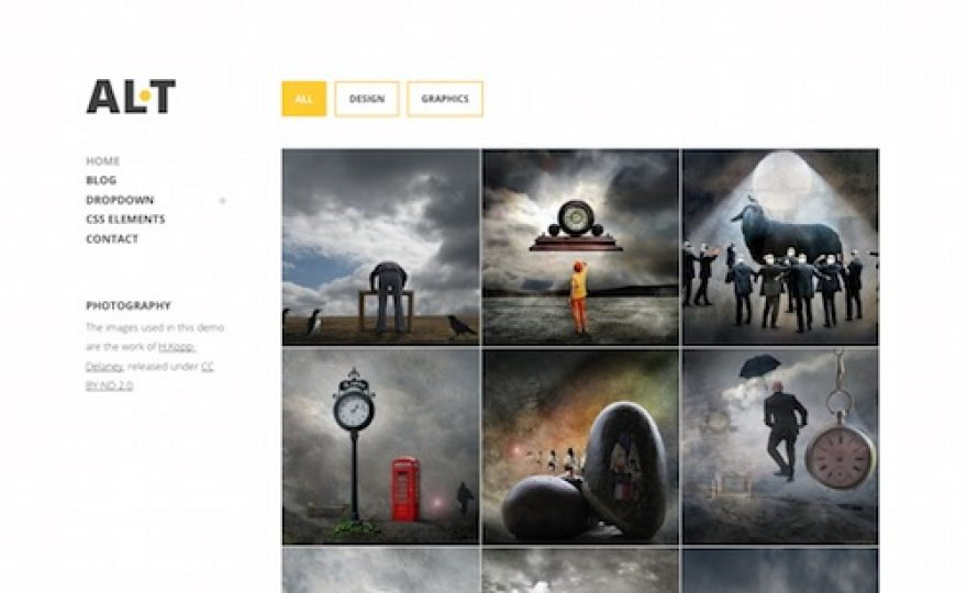 Alternate Portfolio WordPress Theme