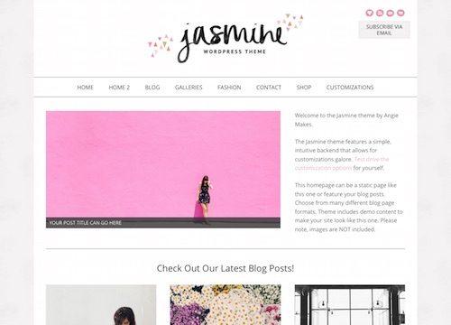 Jasmine: Minimalist Feminine WordPress Theme