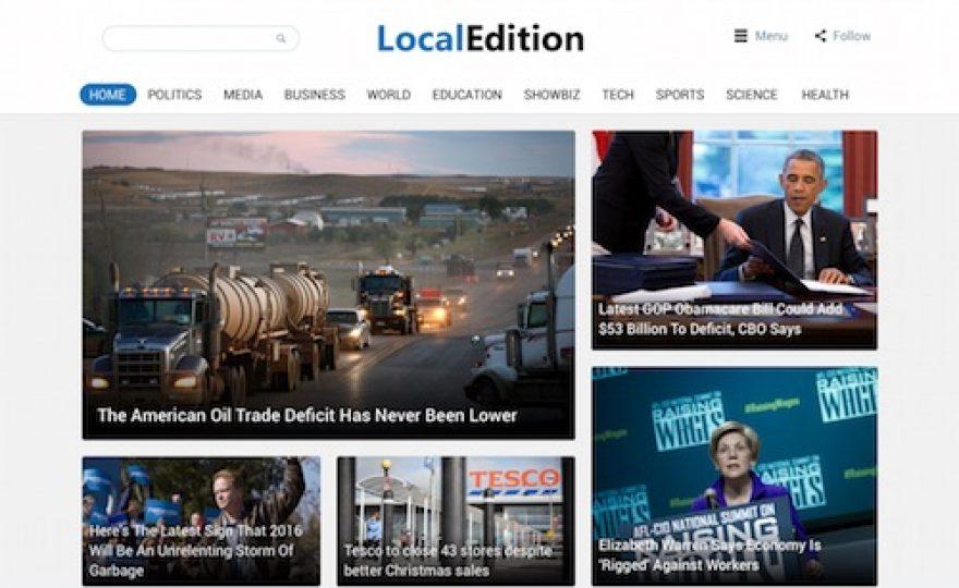 Local Edition: Newspaper WordPress Theme