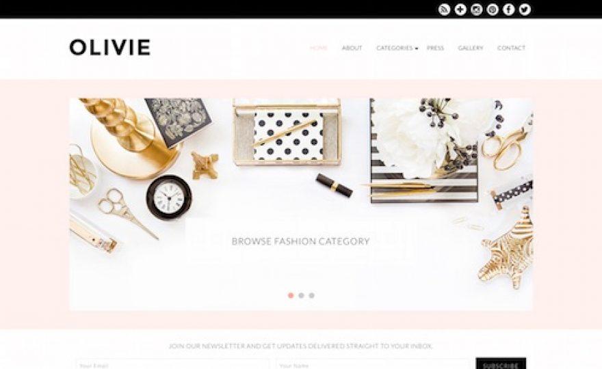 Olivie Blog WordPress Theme