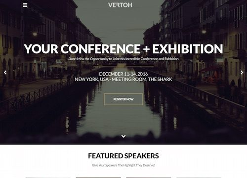 Vertoh: Conference and Event WordPress Theme