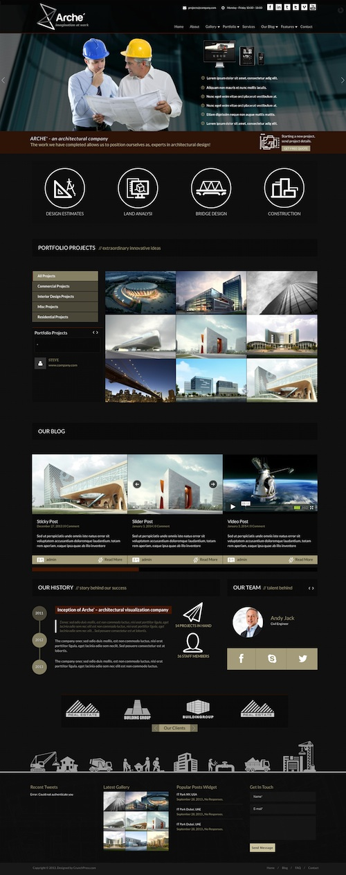 10+ Best Building Construction Company WordPress Themes 2019