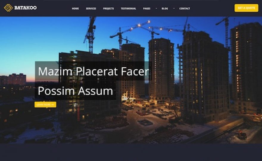 10+ WordPress Themes for Construction Companies