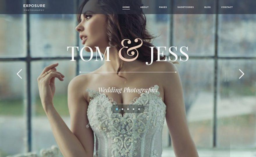 Exposure: Photography Business WordPress Theme