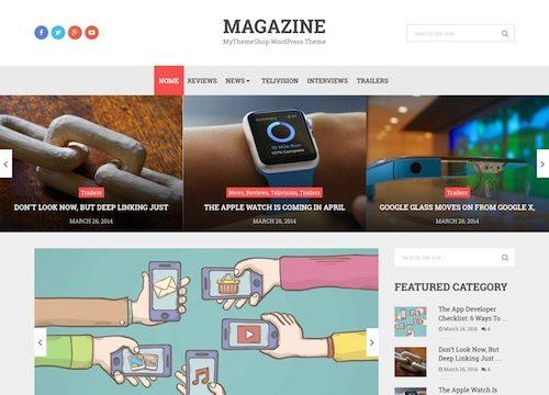 Magazine Blog WordPress Theme