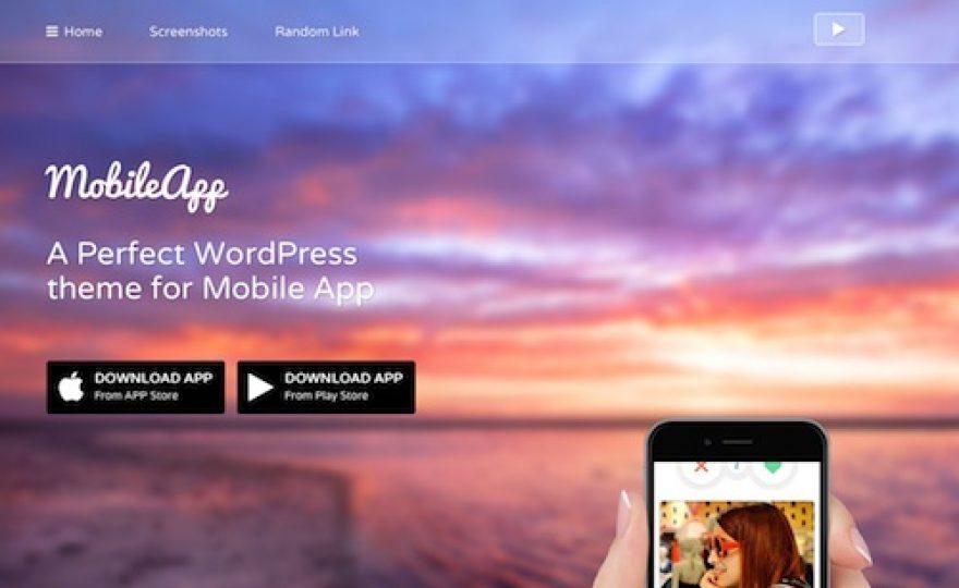 Mobile App WordPress Theme