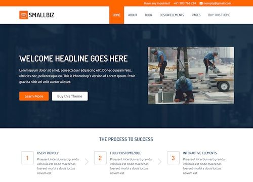 SmallBiz: WordPress Small Business Theme