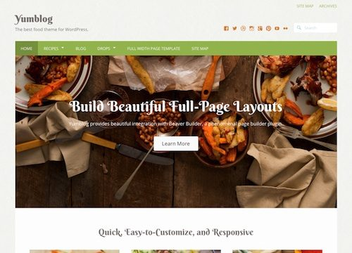 Yumblog WordPress Food & Recipe Theme