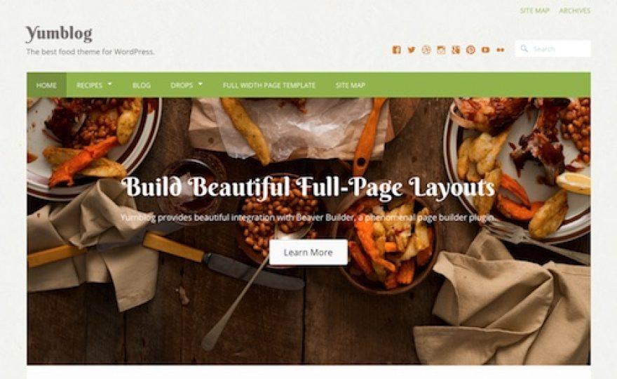 Yumblog WordPress Food & Recipe Theme