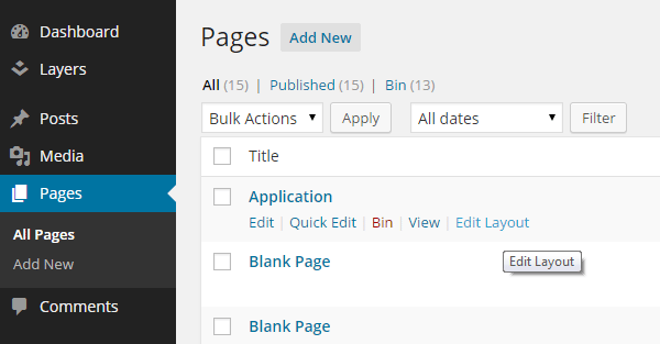 Layers Page Manager