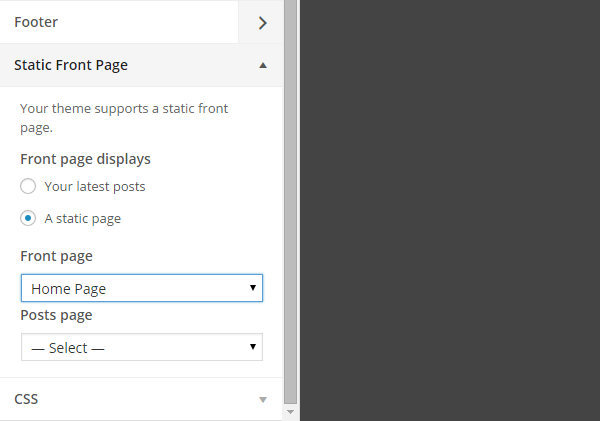 Layers Set a Static Page