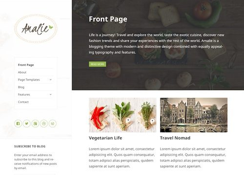 Amalie: WordPress Blogging Theme