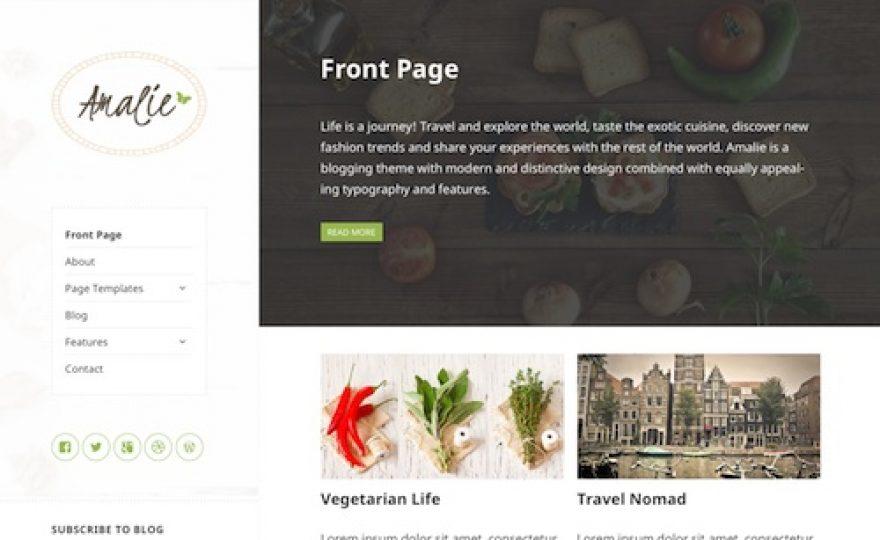 Amalie: WordPress Blogging Theme