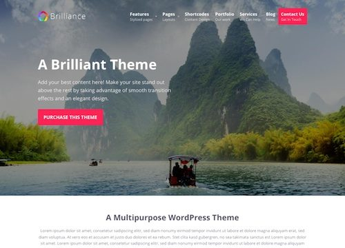 Brilliance: Multipurpose WordPress Theme
