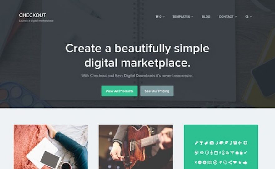 Create a Digital Store or Marketplace with the Checkout WordPress Theme