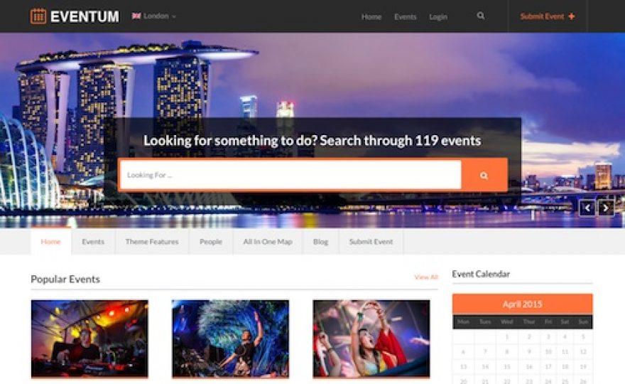 Eventum: Events Directory WordPress Theme