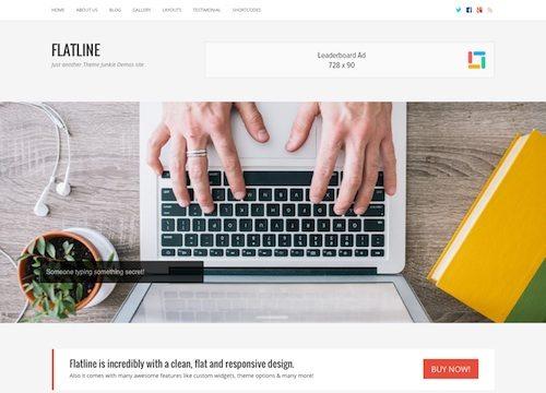 FlatLine: Business WordPress Theme