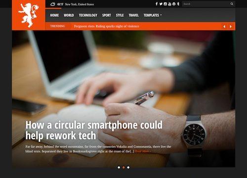 Tabloid Magazine WordPress Theme