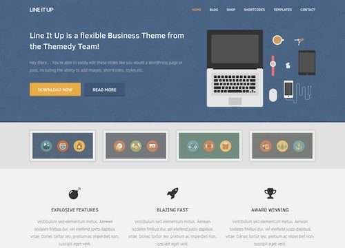 Line It Up 2: Business WordPress Theme