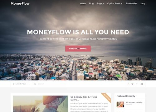 Money Flow: Blog Magazine WordPress Theme