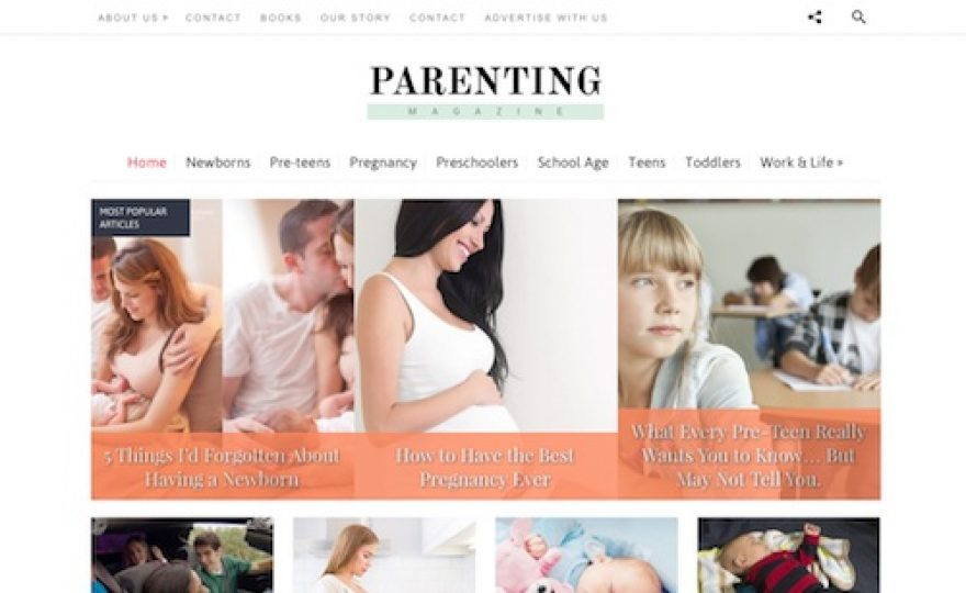 Parenting Blog WordPress Theme