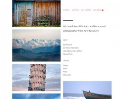 F22 Photography Portfolio WordPress Theme