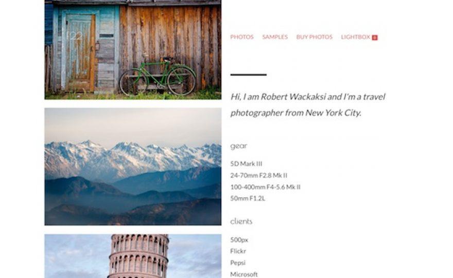 F22 Photography Portfolio WordPress Theme