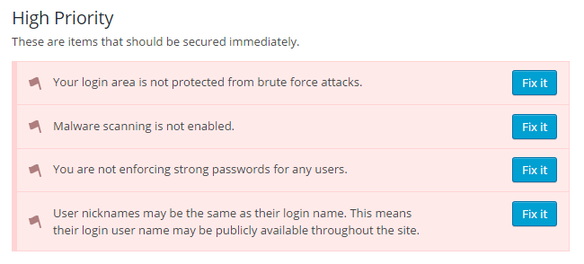iThemes Security Check List