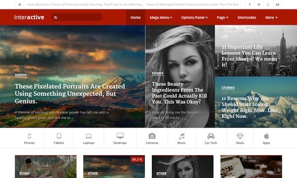 Interactive: Blog Magazine WordPress Theme
