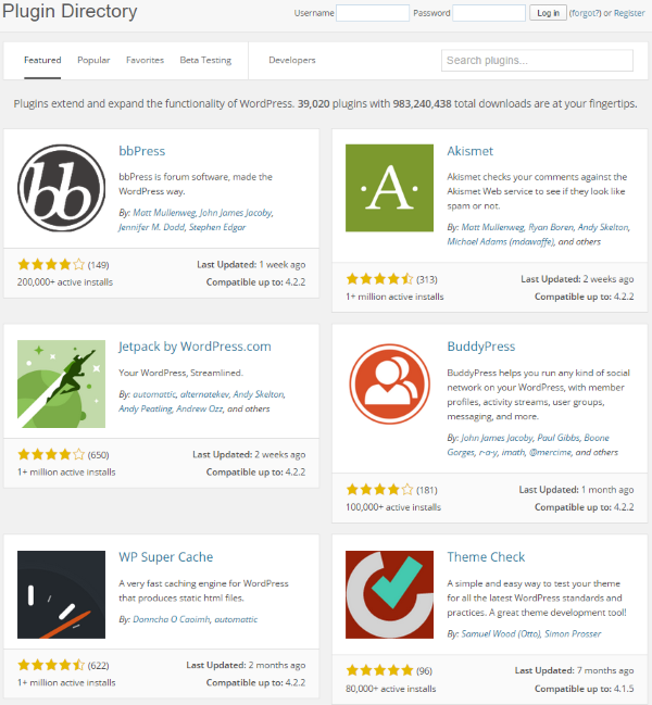 Apps and Plugins wordpress