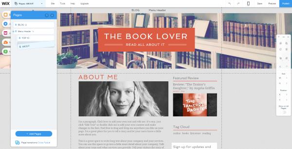 Blogging or Website wix