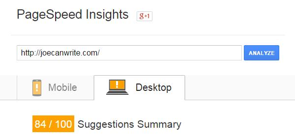 Google PageSpeed Desktop After
