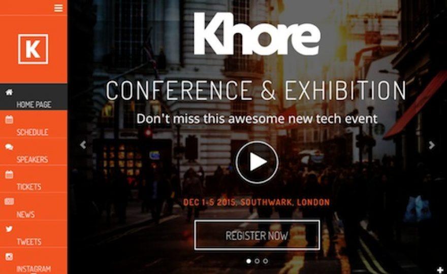 Khore – Conference & Event WordPress Theme
