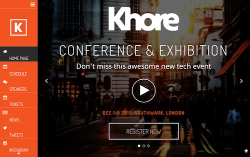 Khore – Conference & Event WordPress Theme