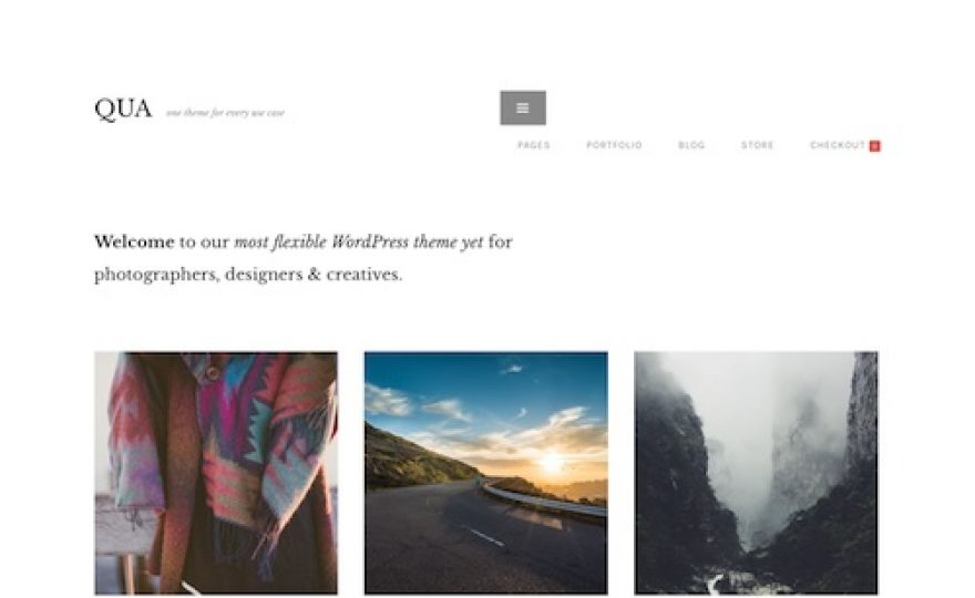 QUA – WordPress Theme for Creatives
