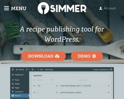 Simmer – A Recipe Publishing Tool for WordPress